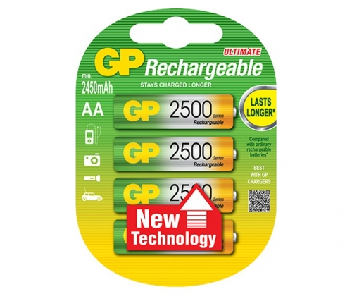 GP Rechargeable NiMH LSD AA 2500 Series 2450 mAh