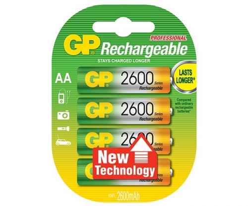 GP Rechargeable NiMH LSD AA 2600 Series 2600mAh