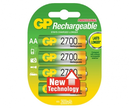 GP Rechargeable NiMH LSD AA 2700 Series 2600mAh
